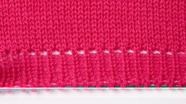 Vorschaubild Webanschlag mit ausgelassenen Nadeln