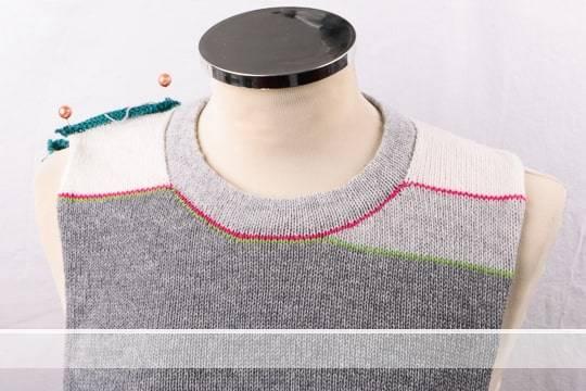 Vorschaubild runder Halsausschnit mit verkürzten Reihen