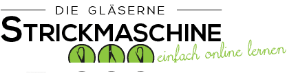 Die gläserne Strickmaschine Logo